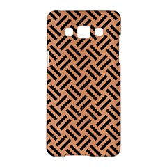 Woven2 Black Marble & Natural Red Birch Wood (r) Samsung Galaxy A5 Hardshell Case  by trendistuff