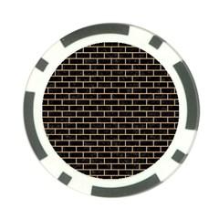 Brick1 Black Marble & Natural White Birch Wood Poker Chip Card Guard by trendistuff