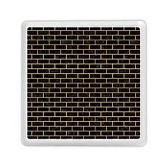Brick1 Black Marble & Natural White Birch Wood Memory Card Reader (square)  by trendistuff