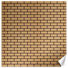 Brick1 Black Marble & Natural White Birch Wood (r) Canvas 12  X 12   by trendistuff