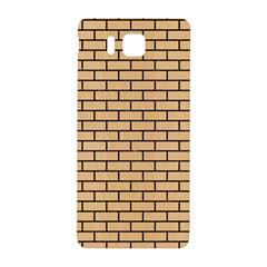 Brick1 Black Marble & Natural White Birch Wood (r) Samsung Galaxy Alpha Hardshell Back Case by trendistuff