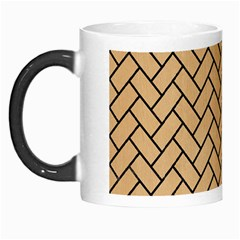 Brick2 Black Marble & Natural White Birch Wood (r) Morph Mugs by trendistuff