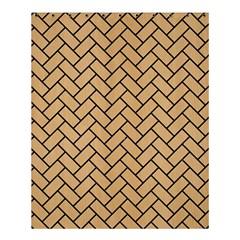 Brick2 Black Marble & Natural White Birch Wood (r) Shower Curtain 60  X 72  (medium)  by trendistuff