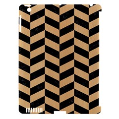 Chevron1 Black Marble & Natural White Birch Wood Apple Ipad 3/4 Hardshell Case (compatible With Smart Cover) by trendistuff