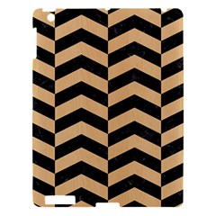 Chevron2 Black Marble & Natural White Birch Wood Apple Ipad 3/4 Hardshell Case by trendistuff