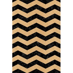 Chevron3 Black Marble & Natural White Birch Wood 5 5  X 8 5  Notebooks by trendistuff