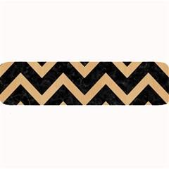 Chevron9 Black Marble & Natural White Birch Wood Large Bar Mats by trendistuff
