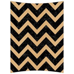 Chevron9 Black Marble & Natural White Birch Wood Back Support Cushion by trendistuff