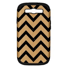 Chevron9 Black Marble & Natural White Birch Wood (r) Samsung Galaxy S Iii Hardshell Case (pc+silicone) by trendistuff