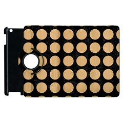 Circles1 Black Marble & Natural White Birch Wood Apple Ipad 2 Flip 360 Case by trendistuff