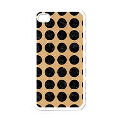 Circles1 Black Marble & Natural White Birch Wood (r) Apple Iphone 4 Case (white) by trendistuff