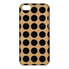 Circles1 Black Marble & Natural White Birch Wood (r) Apple Iphone 5c Hardshell Case by trendistuff
