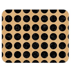 Circles1 Black Marble & Natural White Birch Wood (r) Double Sided Flano Blanket (medium)  by trendistuff