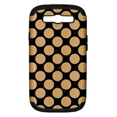 Circles2 Black Marble & Natural White Birch Wood Samsung Galaxy S Iii Hardshell Case (pc+silicone) by trendistuff
