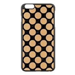Circles2 Black Marble & Natural White Birch Wood Apple Iphone 6 Plus/6s Plus Black Enamel Case by trendistuff