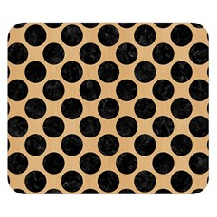 Circles2 Black Marble & Natural White Birch Wood (r) Double Sided Flano Blanket (small)  by trendistuff