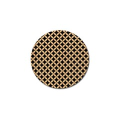 Circles3 Black Marble & Natural White Birch Wood Golf Ball Marker (10 Pack) by trendistuff