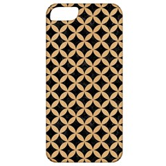 Circles3 Black Marble & Natural White Birch Wood Apple Iphone 5 Classic Hardshell Case by trendistuff