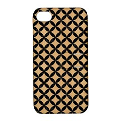 Circles3 Black Marble & Natural White Birch Wood (r) Apple Iphone 4/4s Hardshell Case With Stand by trendistuff