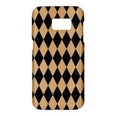 Diamond1 Black Marble & Natural White Birch Wood Samsung Galaxy S7 Hardshell Case  by trendistuff