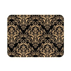 Damask1 Black Marble & Natural White Birch Wood Double Sided Flano Blanket (mini)  by trendistuff