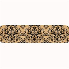 Damask1 Black Marble & Natural White Birch Wood (r) Large Bar Mats by trendistuff