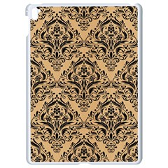 Damask1 Black Marble & Natural White Birch Wood (r) Apple Ipad Pro 9 7   White Seamless Case by trendistuff