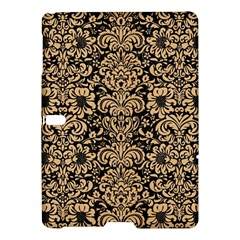 Damask2 Black Marble & Natural White Birch Wood Samsung Galaxy Tab S (10 5 ) Hardshell Case  by trendistuff