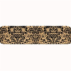 Damask2 Black Marble & Natural White Birch Wood (r) Large Bar Mats by trendistuff