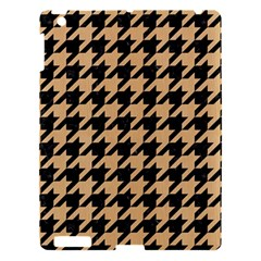 Houndstooth1 Black Marble & Natural White Birch Wood Apple Ipad 3/4 Hardshell Case by trendistuff