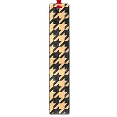 Houndstooth1 Black Marble & Natural White Birch Wood Large Book Marks by trendistuff