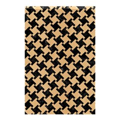 Houndstooth2 Black Marble & Natural White Birch Wood Shower Curtain 48  X 72  (small)  by trendistuff