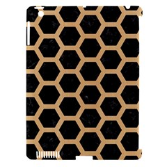 Hexagon2 Black Marble & Natural White Birch Wood Apple Ipad 3/4 Hardshell Case (compatible With Smart Cover) by trendistuff