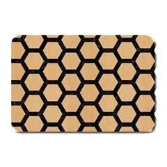 Hexagon2 Black Marble & Natural White Birch Wood (r) Plate Mats by trendistuff