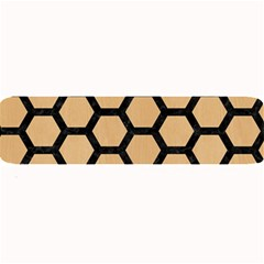 Hexagon2 Black Marble & Natural White Birch Wood (r) Large Bar Mats by trendistuff