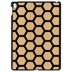 Hexagon2 Black Marble & Natural White Birch Wood (r) Apple Ipad Pro 9 7   Black Seamless Case by trendistuff
