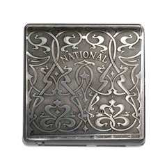 Art Nouveau Silver Memory Card Reader (square) by Love888