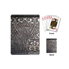 Art Nouveau Silver Playing Cards (mini)  by 8fugoso