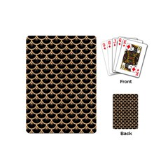 Scales3 Black Marble & Natural White Birch Wood Playing Cards (mini)  by trendistuff