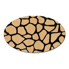 Skin1 Black Marble & Natural White Birch Wood Oval Magnet by trendistuff