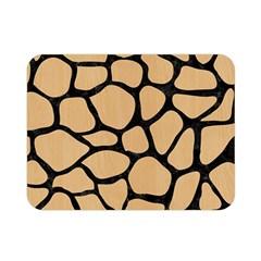 Skin1 Black Marble & Natural White Birch Wood Double Sided Flano Blanket (mini)  by trendistuff