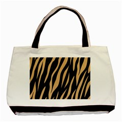Skin3 Black Marble & Natural White Birch Wood Basic Tote Bag by trendistuff