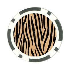Skin4 Black Marble & Natural White Birch Wood Poker Chip Card Guard by trendistuff
