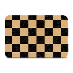 Square1 Black Marble & Natural White Birch Wood Plate Mats by trendistuff