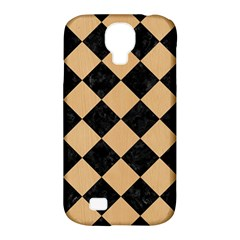 Square2 Black Marble & Natural White Birch Wood Samsung Galaxy S4 Classic Hardshell Case (pc+silicone) by trendistuff
