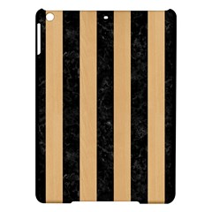 Stripes1 Black Marble & Natural White Birch Wood Ipad Air Hardshell Cases by trendistuff