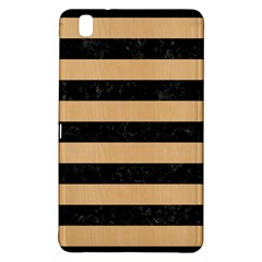 Stripes2 Black Marble & Natural White Birch Wood Samsung Galaxy Tab Pro 8 4 Hardshell Case by trendistuff