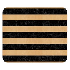 Stripes2 Black Marble & Natural White Birch Wood Double Sided Flano Blanket (small)  by trendistuff