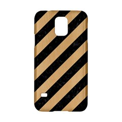 Stripes3 Black Marble & Natural White Birch Wood Samsung Galaxy S5 Hardshell Case  by trendistuff