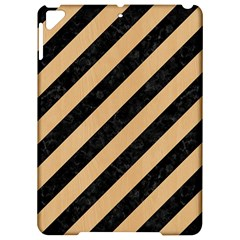 Stripes3 Black Marble & Natural White Birch Wood Apple Ipad Pro 9 7   Hardshell Case by trendistuff